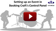 Walk-through of using the control panel to set up an event.